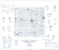 Randolph County 1961 - Harrisville, Deerfield, New Pittsburg, Huntsville, Carlos, Windsor, Fairview, Arba, Spartanburg, Indiana State Atlas 1958 to 1963 Highway Maps