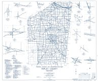 Ripley County 1962 - New Marion, Pierceville, Dabney, Holton, Morris, Friendship, Cross Plains, Delaware, Old Milan, Spades, Indiana State Atlas 1958 to 1963 Highway Maps