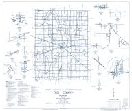 Rush County 1962 - Arlington, Homer, Henderson, Moscow, Manilla, Mays, Raleigh, Falmouth, Sexton, Dircleville, Indiana State Atlas 1958 to 1963 Highway Maps