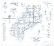 Spencer County 1959 - St. Menrad, Richland City, Lincoln City, Midway, Hatfield, Mariah Hill, Lamar, Fulda, New Boston, Indiana State Atlas 1958 to 1963 Highway Maps