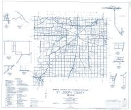 St. Joseph County 1961 - Wyatt, Colburn, Granger, Crumstown, Indiana State Atlas 1958 to 1963 Highway Maps
