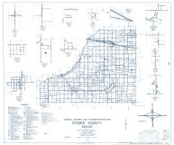 Starke county 1962 - Brems, Govertown, Ober, Bass, Ora, Indiana State Atlas 1958 to 1963 Highway Maps