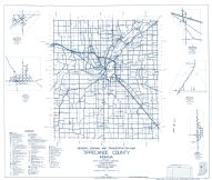 Tippecanoe County 1961 - Buck Creek, Dayton, Montmorenci, Romney, Indiana State Atlas 1958 to 1963 Highway Maps