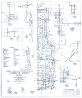 Vermillion County 1960 - Centenary, Hillsdale Alta, Klondyke, Eugene, Gessie, Summit Grove, West Clinton Junction, Indiana State Atlas 1958 to 1963 Highway Maps