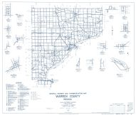 Warren County 1962 - Tab, Rainsville, Winthrop, Green Hill, Independence, Kramer, Judyville, Pence, Hedrick, Foster, Indiana State Atlas 1958 to 1963 Highway Maps