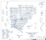 Warrick County 1959 - Yankeetown, Pelzer, Rolling Acres, Folsomville, Selvin, Millersburg, Stevenson, Indiana State Atlas 1958 to 1963 Highway Maps