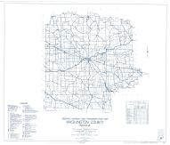 Washington County 1937 - Revised 1958, Indiana State Atlas 1958 to 1963 Highway Maps