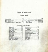 Table of Contents, Marshall County 1908