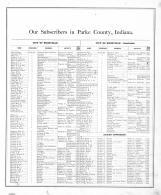 Directory 1, Parke County 1874