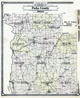 County Outline Map, Parke County 1874
