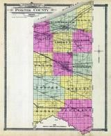 Porter County Outline Map, Porter County 1906
