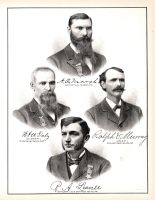 A.O. Marsh, W.A.W. Daly, Ralph Murray, R.A. Leavell, Randolph County 1882