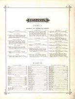 Table of Contents 1, Randolph County 1882