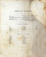 Table of Contents, Ripley County 1883