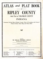 Title Page, Ripley and Franklin Counties 1921