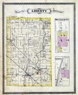 Liberty Township, Geneva, Mount Auburn, Middletown, Waldron, Cynthiana, Coons Creek, Shelby County 1880