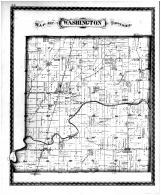 Washington Township, Lewis Creek Sta.,  Flat Rock Sta., Norristown. Winterroud P.O., Shelby County 1880 Microfilm