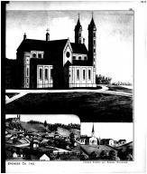 St. Meinrad Abbey, St. Meinrad Bird's Eye View, Monte Casino Chapel - Right, Spencer County 1879 Microfilm