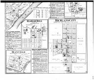 Huff Township, New Boston, Maxville, Mariah Hill, Richland City - Below, Spencer County 1879 Microfilm