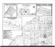 Luce Township, Pyeattsville, Eureka, French Island City, Enterprise, Richland City, Lake P.O. - Above, Spencer County 1879 Microfilm