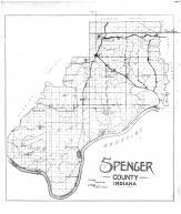 Spencer County Map, Spencer County 1896