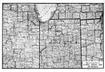 Parts of Illinois, Indiana, Ohio and Michigan Map, Steuben County 1912