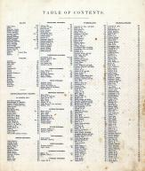 Table of Contents, Tippecanoe County 1878