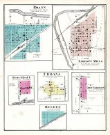 Roann, Liberty Mills, Stockdale, Urbana, New Madison, Belden, Wabash County 1875