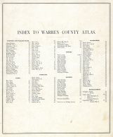 Index, Warren County 1877