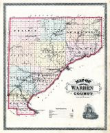 Warren County Map, Warren County 1877