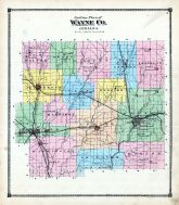County Outline Map, Wayne County 1874