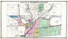 Richmond and Vicinity - North, Wayne County 1874