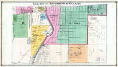 Richmond and Vicinity - South, Wayne County 1874