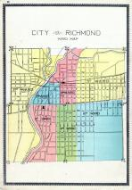 Richmond City - Ward Map, Wayne County 1893