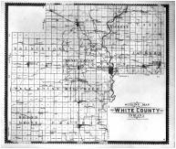 White County Outline Map, White County 1896