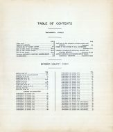 Table of Contents, Barber County 1923
