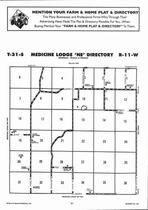 Medicine Lodge Township - Northeast, Directory Map, Barber County 2006