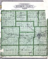 County Outline Map, Bourbon County 1920