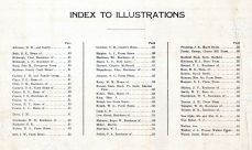 Index to Illustrations, Bourbon County 1920