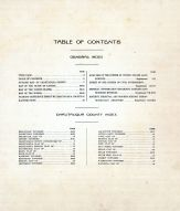 Table of Contents, Chautauqua County 1921