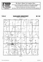 Oakland Township, Oak Hill, Directory Map, Clay County 2006