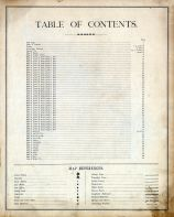 Table of Contents, Cowley County 1882