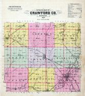 Crawford County Outline Map, Crawford County 1906