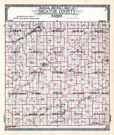 County School District Map, Decatur County 1921