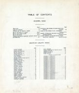Table of Contents, Decatur County 1921