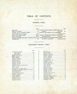 Table of Contents, Index, Dickinson County 1921