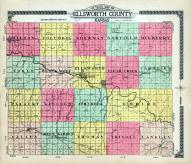 Ellsworth County Outline Map, Ellsworth County 1918