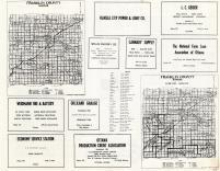 Franklin County Map and Cemetery Districts Map, Franklin County 1958