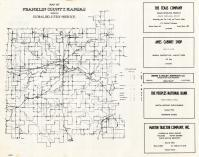 Franklin County Rural Delivery Service Map, Franklin County 1958