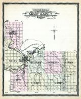 Geary County Outline Map, Geary County 1909
